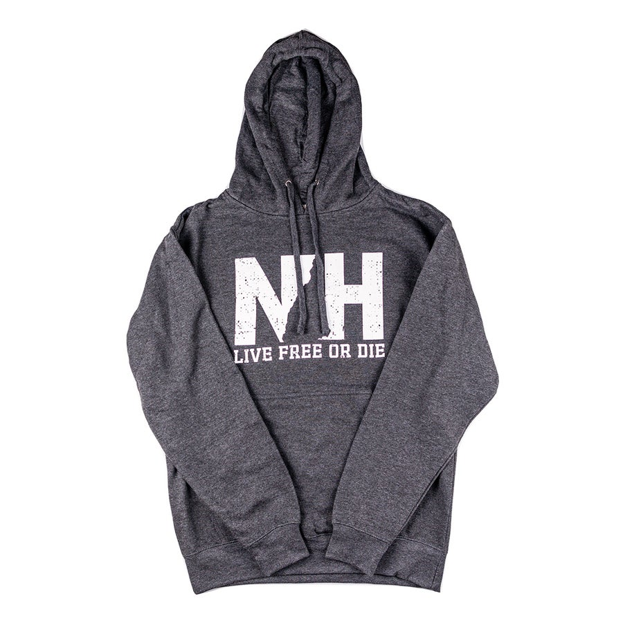 Image of NH Logo Unisex Hooded Sweatshirt- Dark Heather Grey