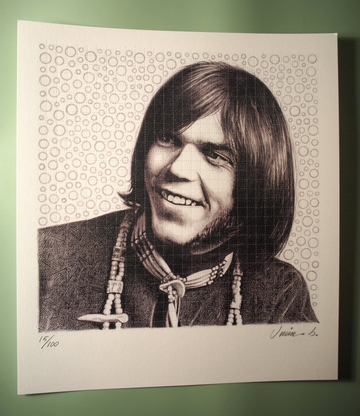 Image of NEIL YOUNG blotter print