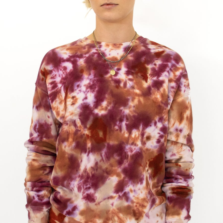 Image of Burgundy-Pink Hand-Dyed Sweatshirt by Kria