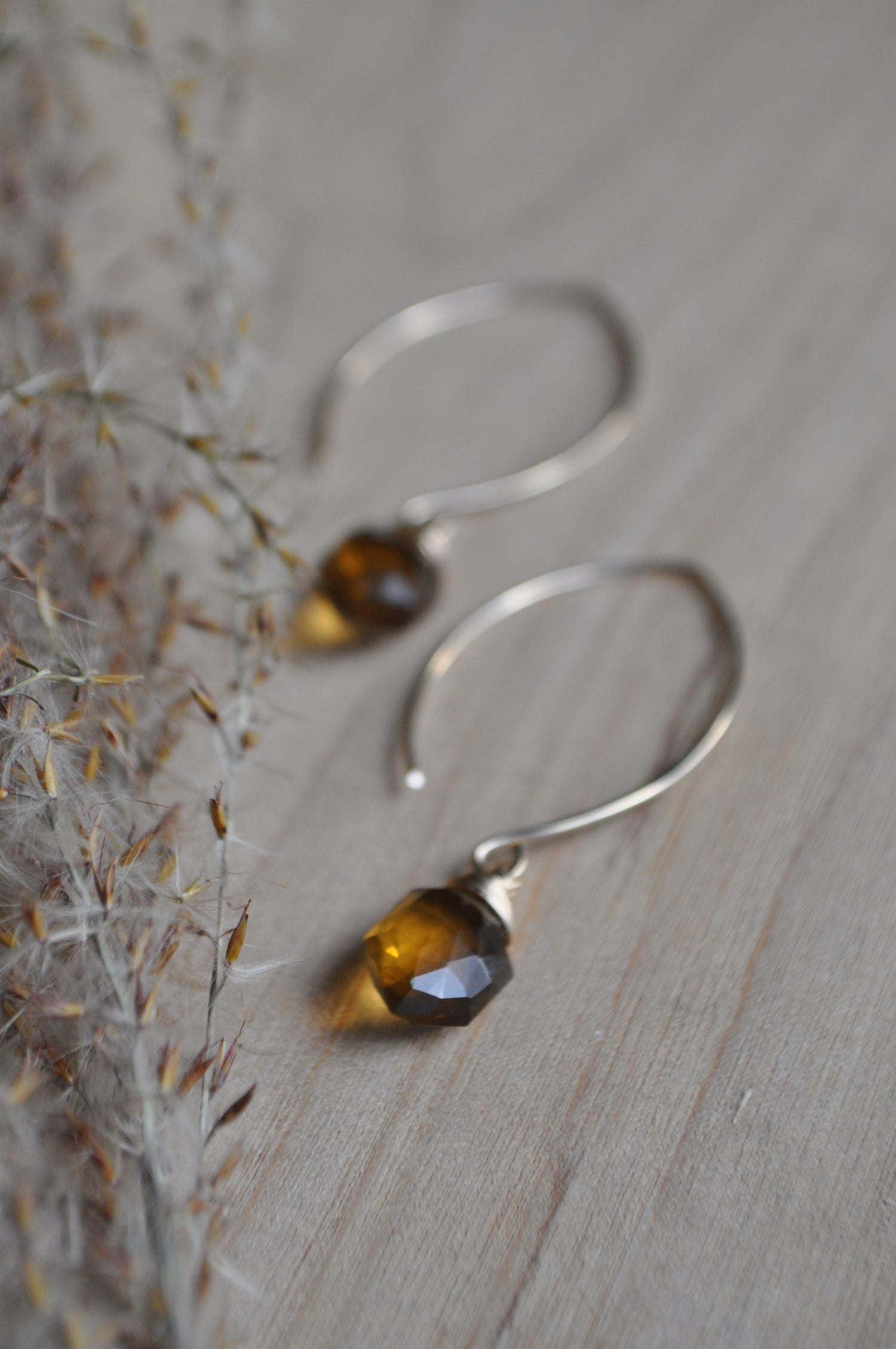 Image of Honey Quartz Hexagon Dangles