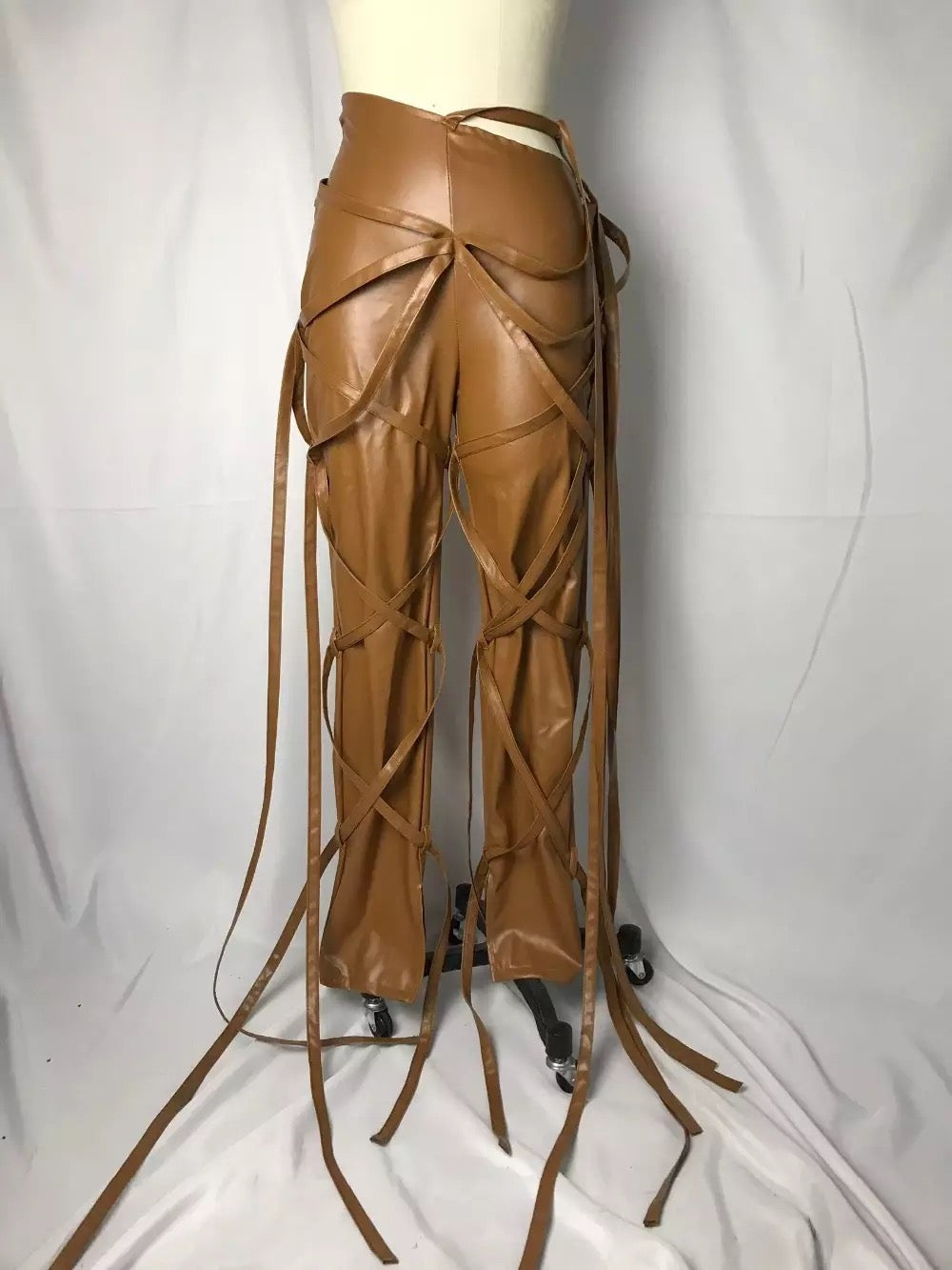 "Image of ""Entangled"" Vegan Leather Pants"