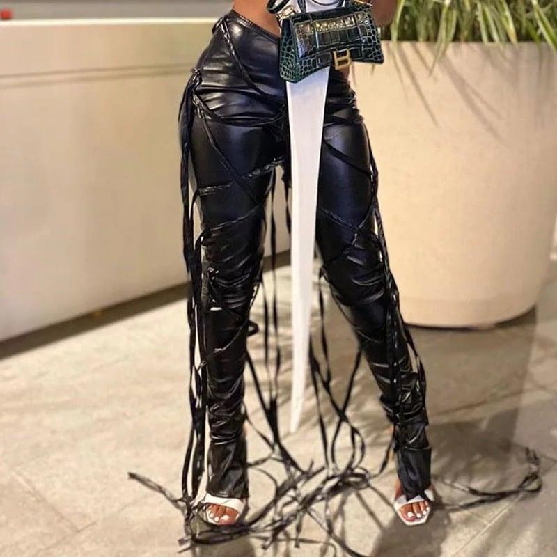 "Image of ""Entangled"" Vegan Leather Pants"