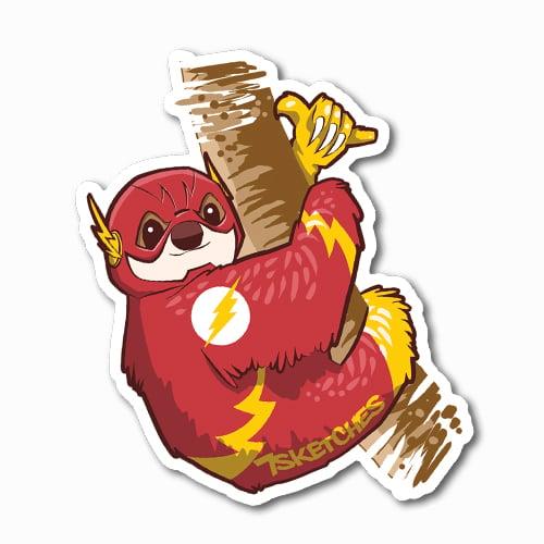 Image of Flash Sloth Sticker