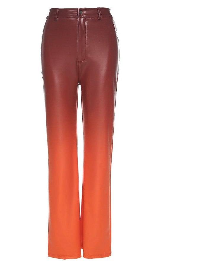 "Image of ""Guava Lava"" Vegan Leather Pants"