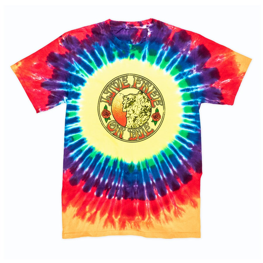 Image of Grateful Old Man of the Mountain T-shirt- Tie-dye