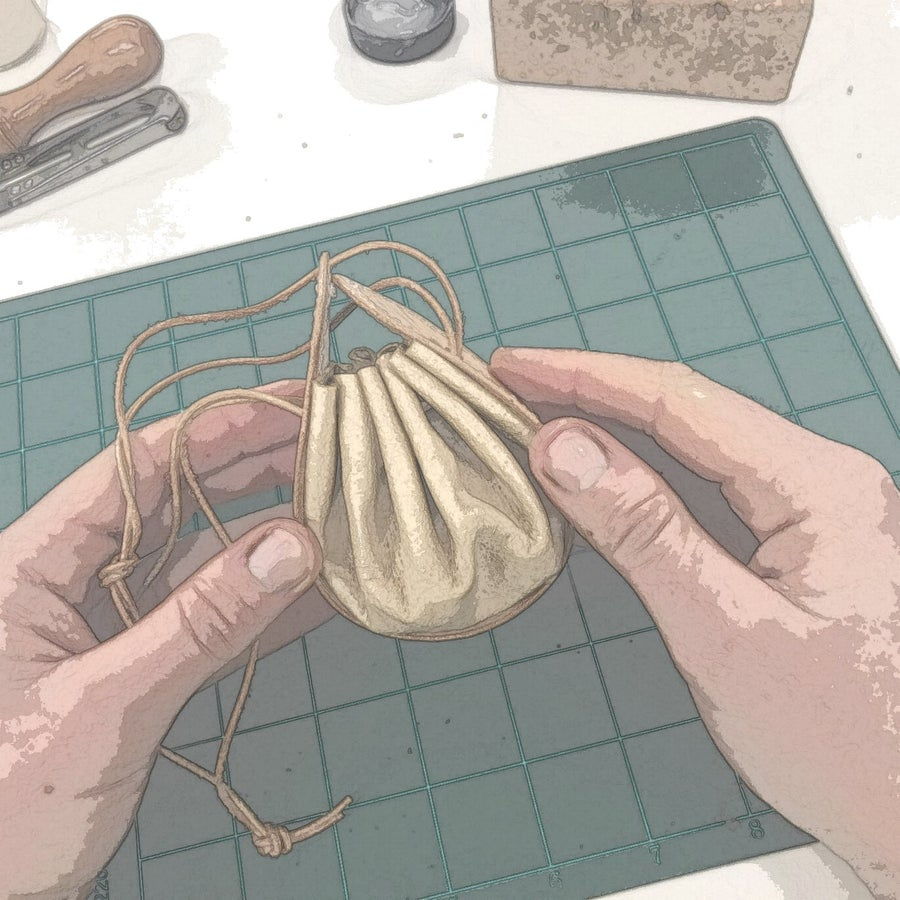 Image of Little Drawstring Pouch Purse Kit