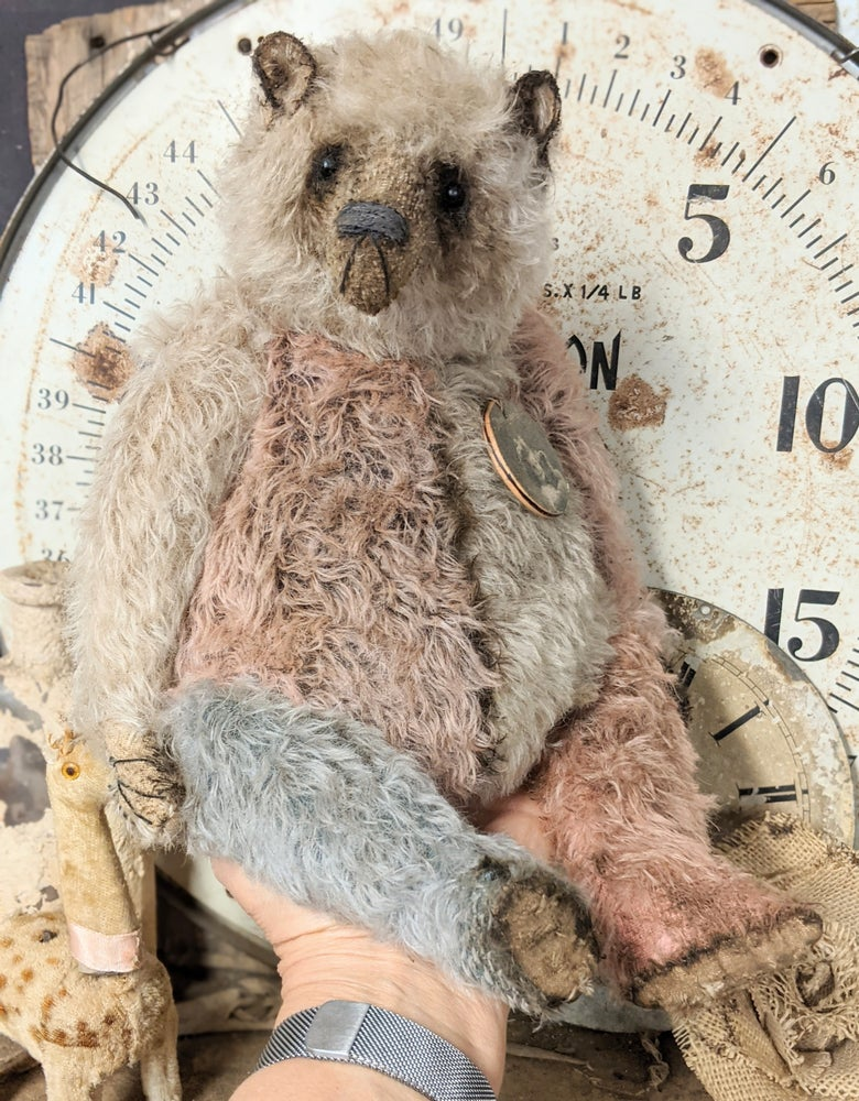 "Image of SCRAPS...a special edition 12.5"" Mohair Teddy Bear (Mien Liebling) by Whendi's Bears"