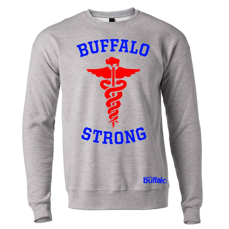 Image of Buffalo Strong CREWNECK Hoodie