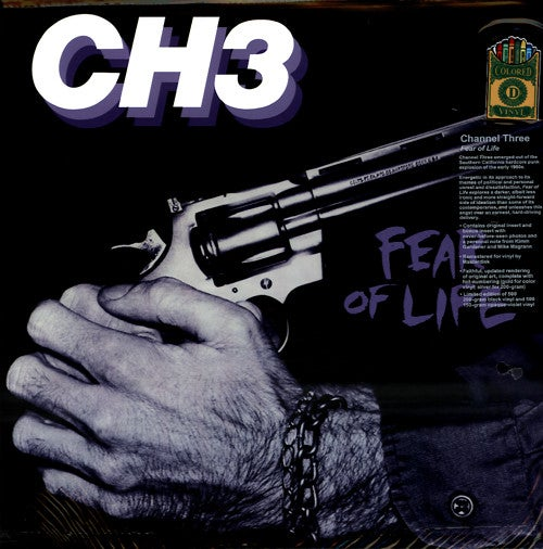 "CH3 (CHANNEL 3) - ""Fear Of Life"" LP - Lavender Vinyl"