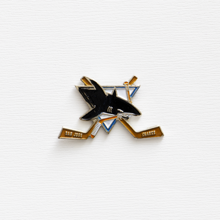 Image of Vintage NHL San Jose Sharks Enamel Pin