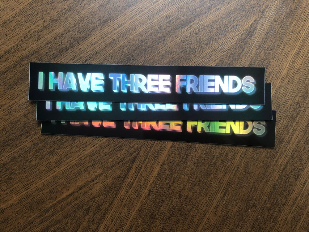 """Image of """"I Have Three Friends"""" Three Pack [Holographic Ultra-Rare]"""