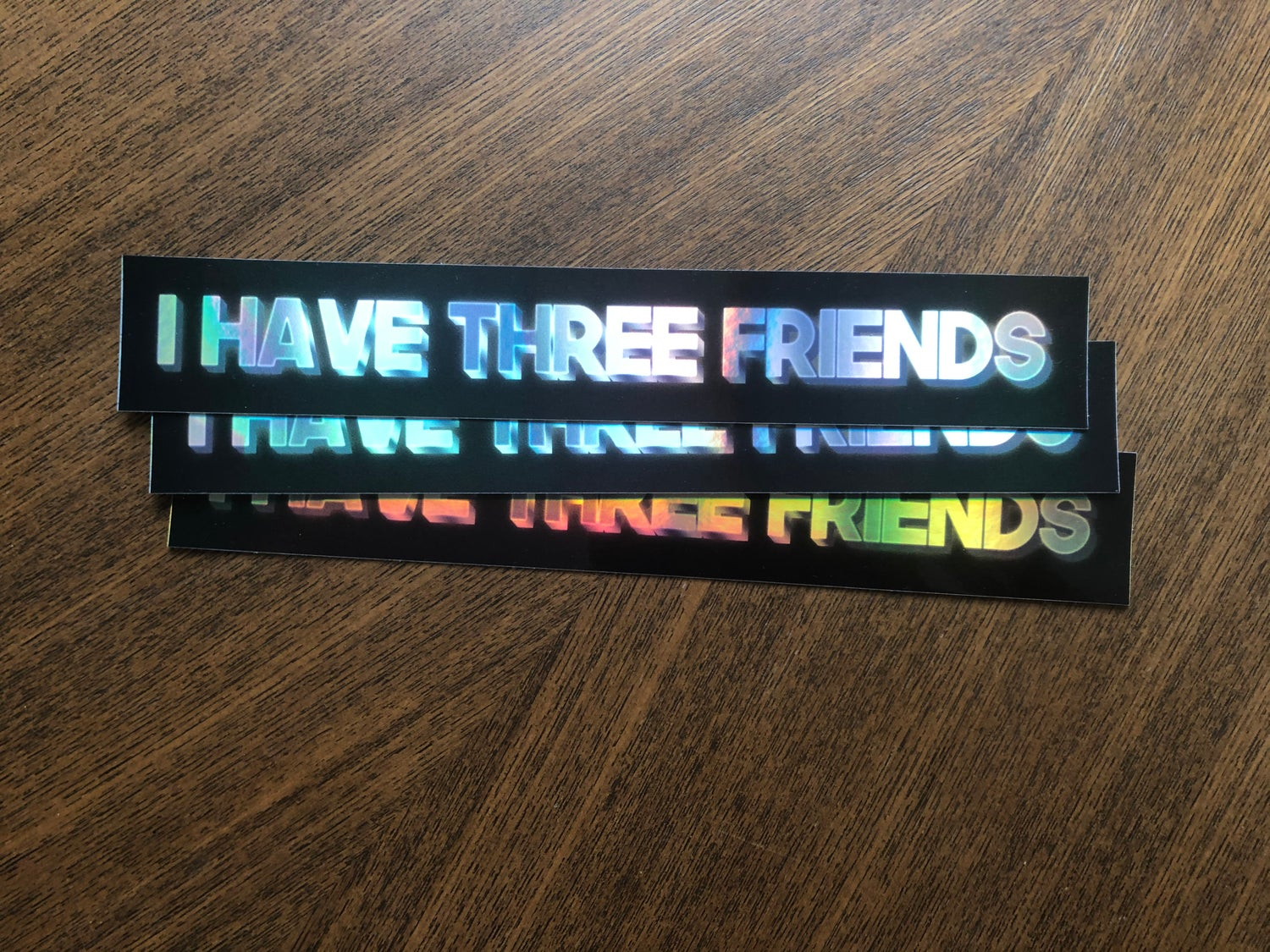 "Image of ""I Have Three Friends"" Three Pack [Holographic Ultra-Rare]"