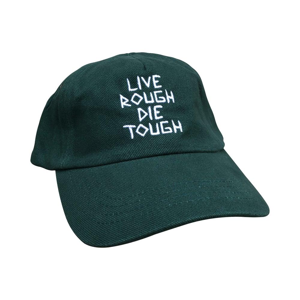 """Image of Dark Green """"Scratch"""" Hat"""