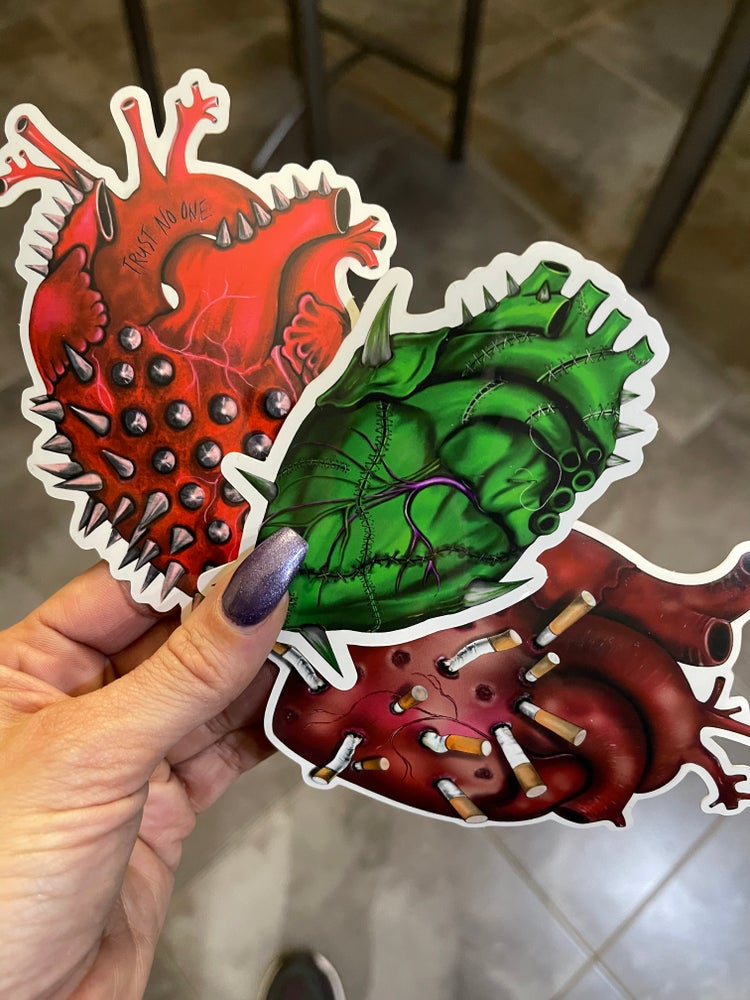 Image of HEART ATTACK STICKER TRIO