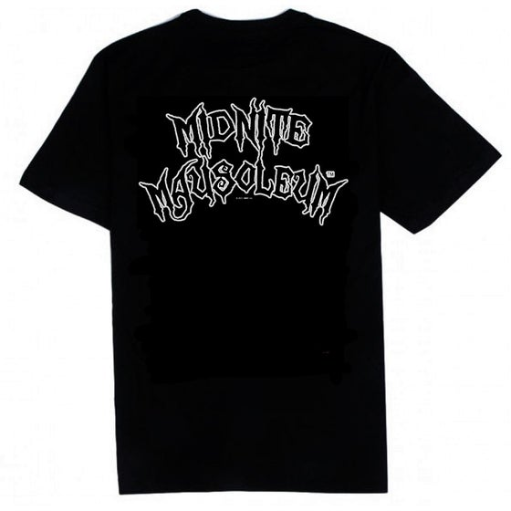Image of Midnite Mausoleum - Glow in the dark logo shirt