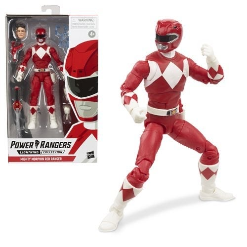 Image of Power Rangers Lightning Collection Mighty Morphin Red Ranger 6-Inch Action Figure
