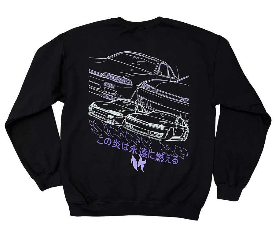 Image of S14 Purple Fire Crew (XL's only)