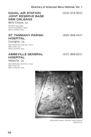 Image of Directory of American Menu Hotlines (PDF edition)