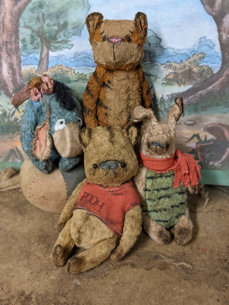 Image of 4 piece SET Hundred Acre Wood collection by whendis bears