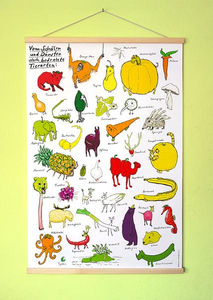 Image of Gemüsetiere | Großes Poster | DIN A1* mit Posterleisten