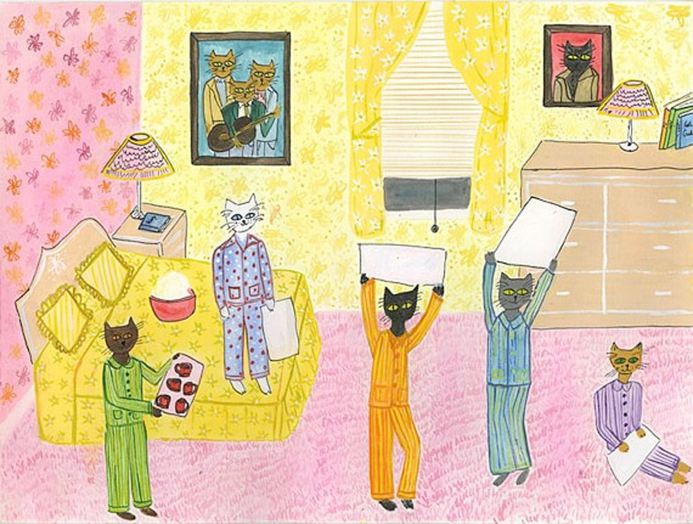 Image of Pajama Party. Limited edition print.