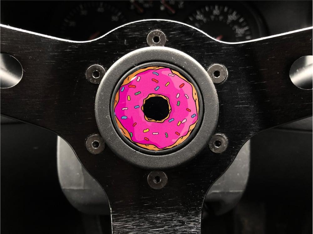 Image of Donut Hornpush Sticker 40mm Domed