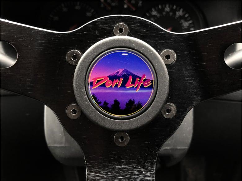 Image of Dori Life Hornpush Sticker 40mm Domed