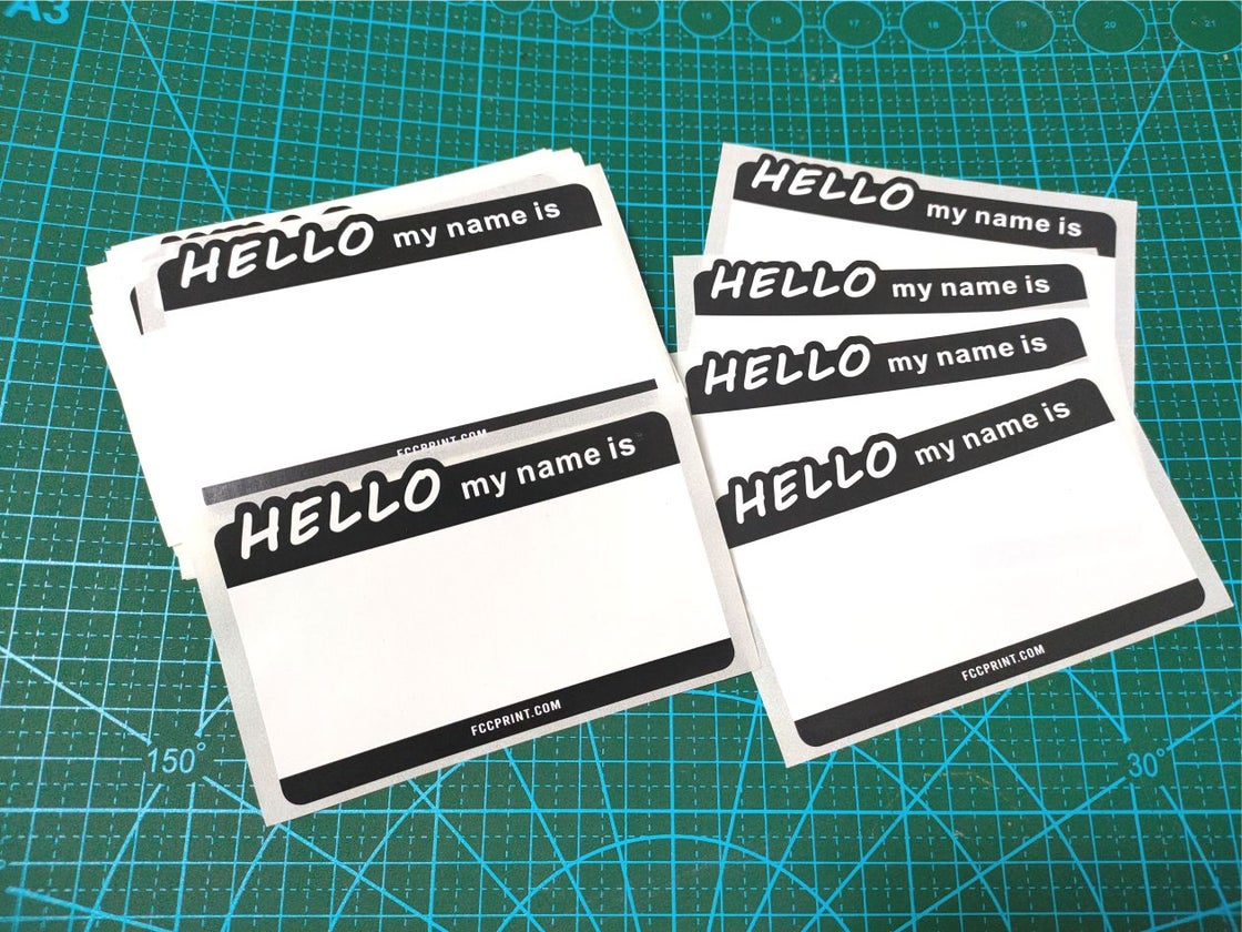 """Image of Free Shipping """"Hello my name is""""  Eggshell Stickers 50/100/200pcs"""