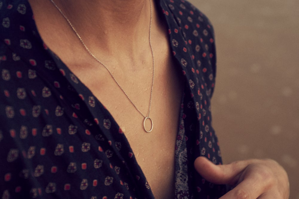 Image of New Moon Eco Silver Necklace