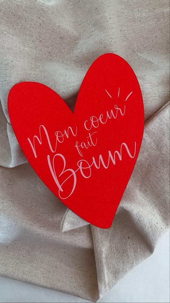 Image of Carte pailletée BOUM (avec enveloppe)