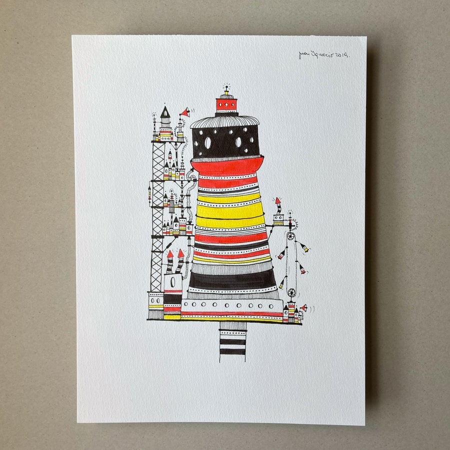 Image of Lighthouse with colors