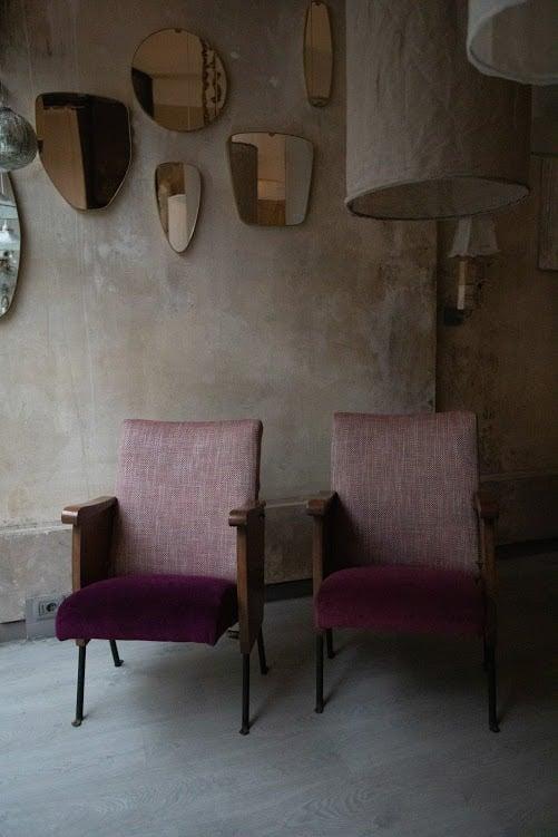 Image of Poltrona Cinematic – Tweed e Velluto Pruno - Borgo delle Tovaglie