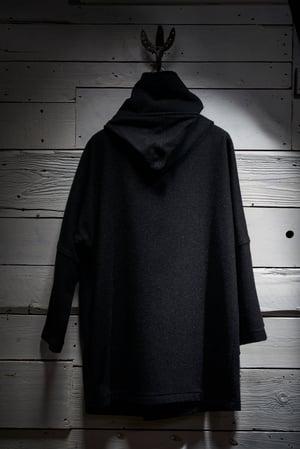 Image of Fisherman Long wool Unisex Coat in Black £330.00