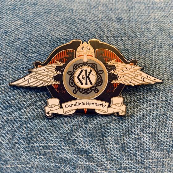 Image of NEW! Nordic Crest Enamel Pin