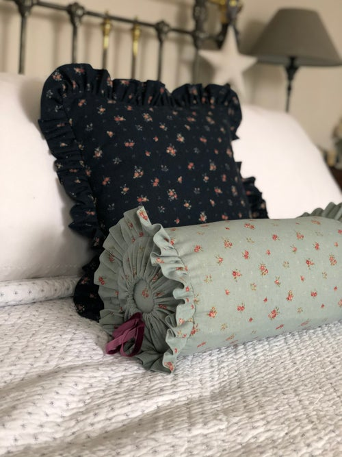 Image of Ditsy bolster and Frill cushion