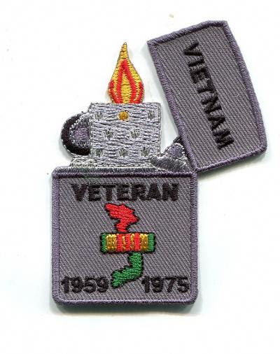 Image of Vietnam Veteran Zippo Lighter Patch