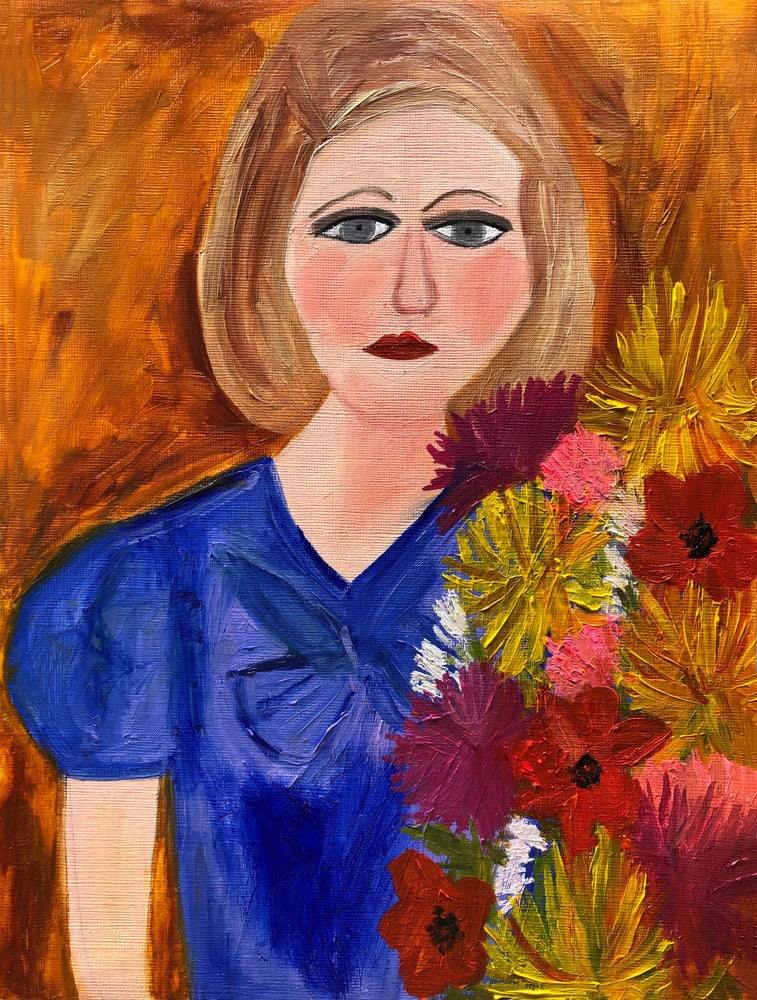 Image of Let all flowers wither like a party. Original oil painting.