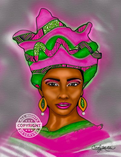 Image of Nubian Queen (Pink and Green)