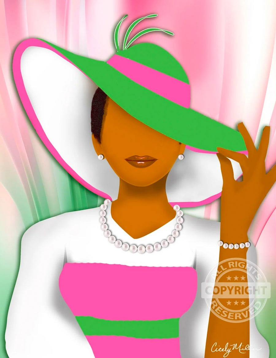 Image of Hattitude (Pink and Green)