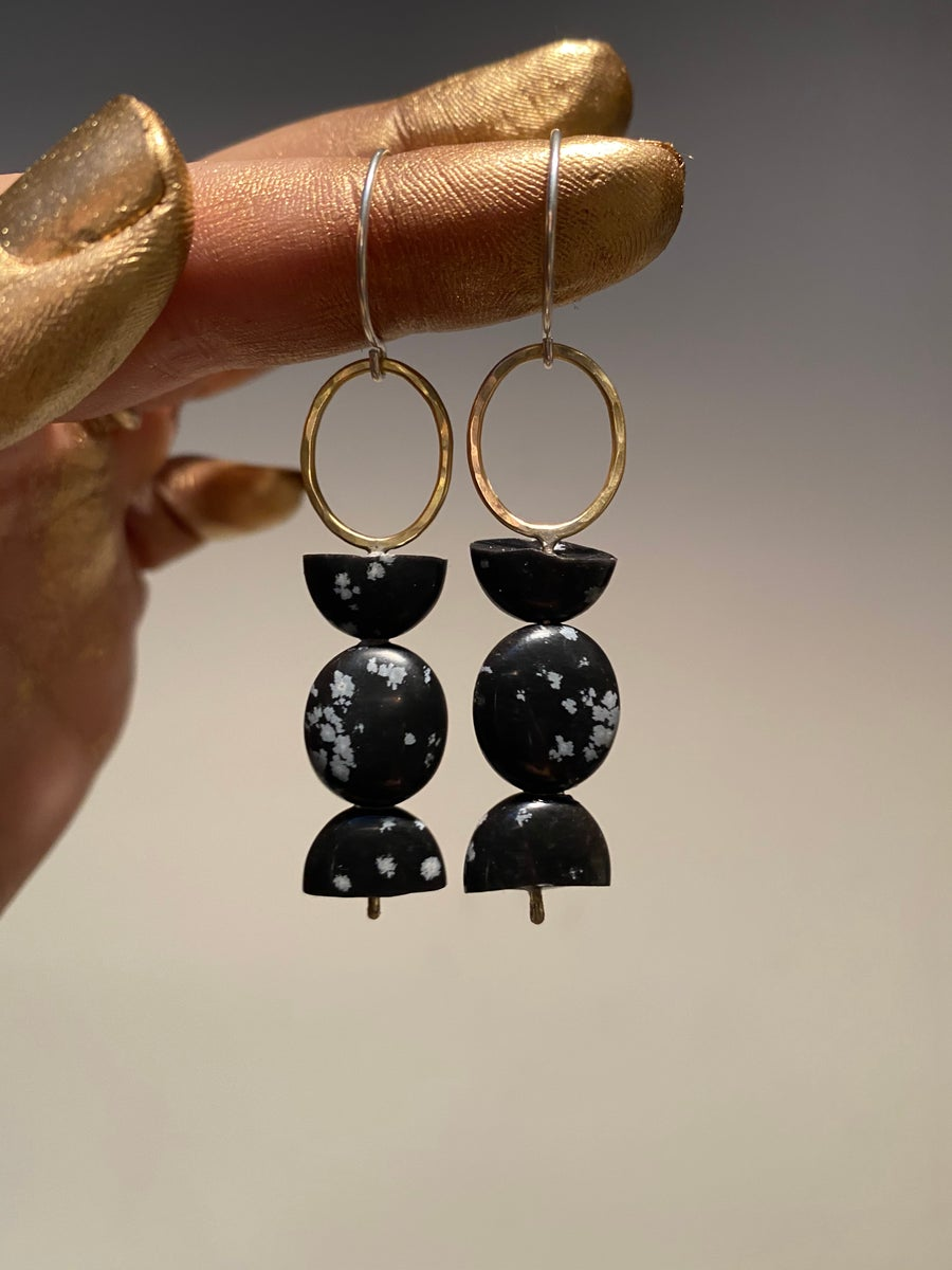 Image of Breathe out totem earrings