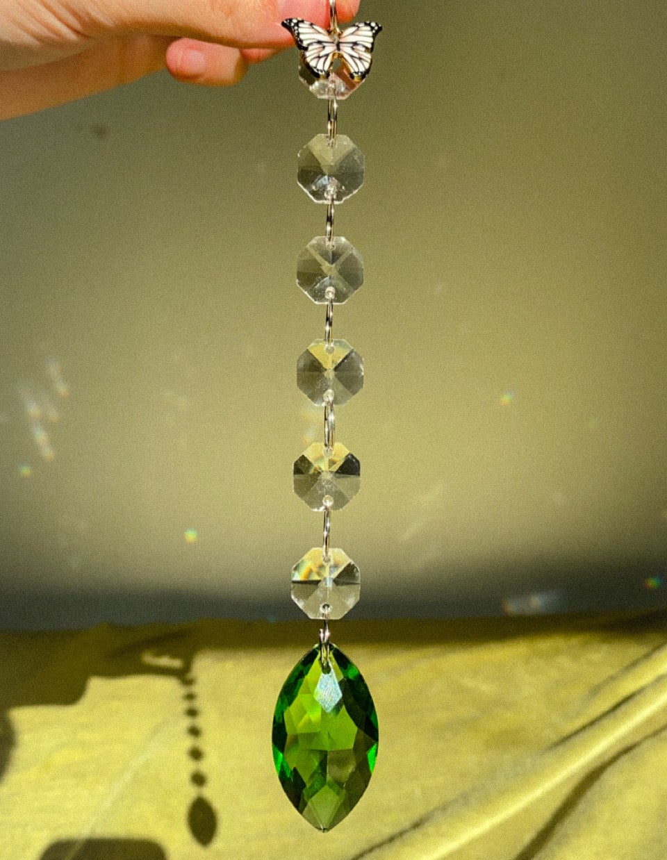 Image of green butterfly suncatcher