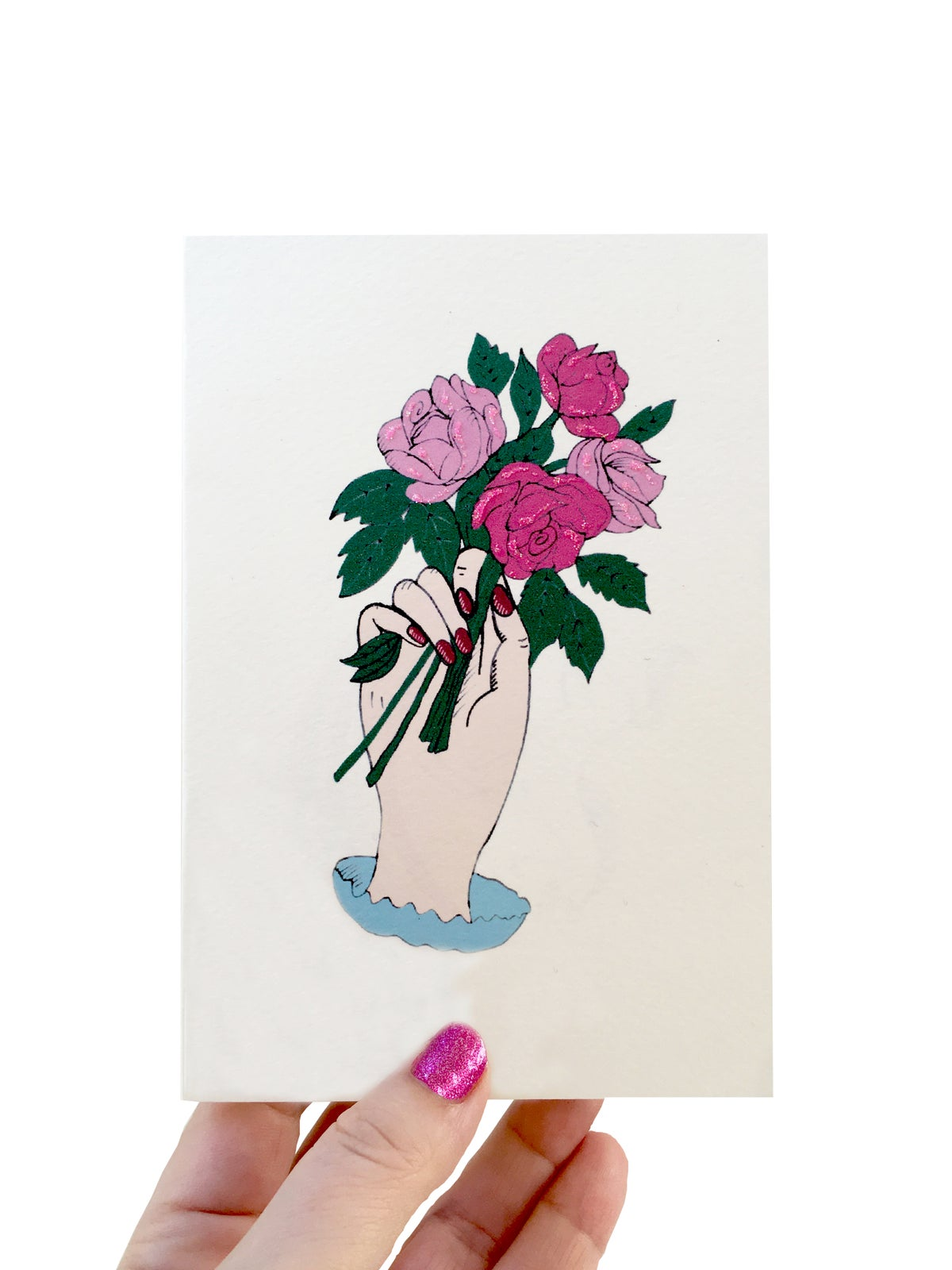 Roses in Hand Card