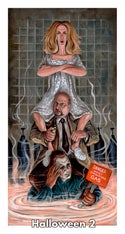 """""""Haunted Haddonfield Stretching Portraits"""" Prints (inspired by the """"Halloween"""" film series)"""