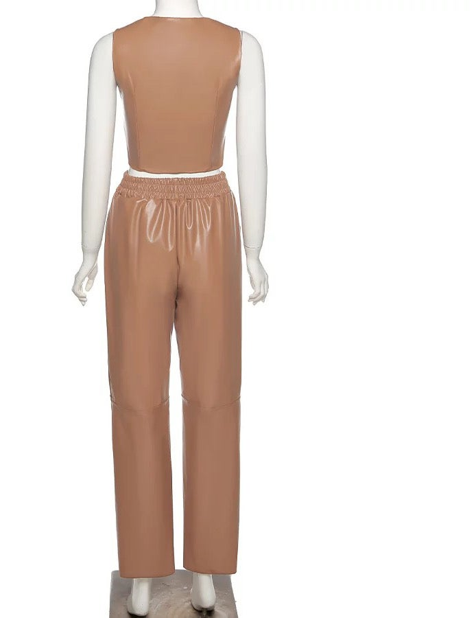 "Image of ""Butta"" Vegan Leather Pant Set"