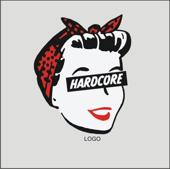 Image of Hard Core Retro Femme - Ladies WHITE T-Shirt