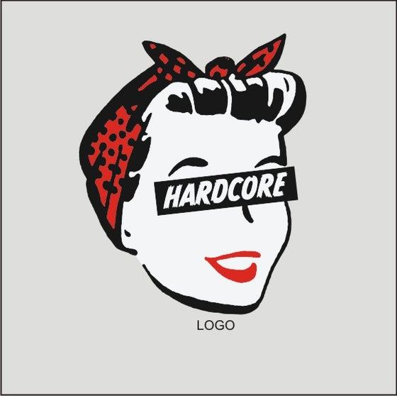 Image of Hard Core Retro Femme - Ladies WHITE T-Shirt