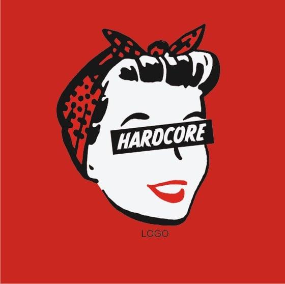 Image of Hard Core Retro Femme - Ladies Red T-Shirt