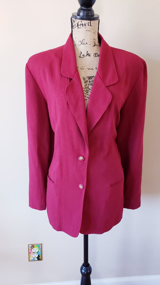Image of Burgundy Blazer