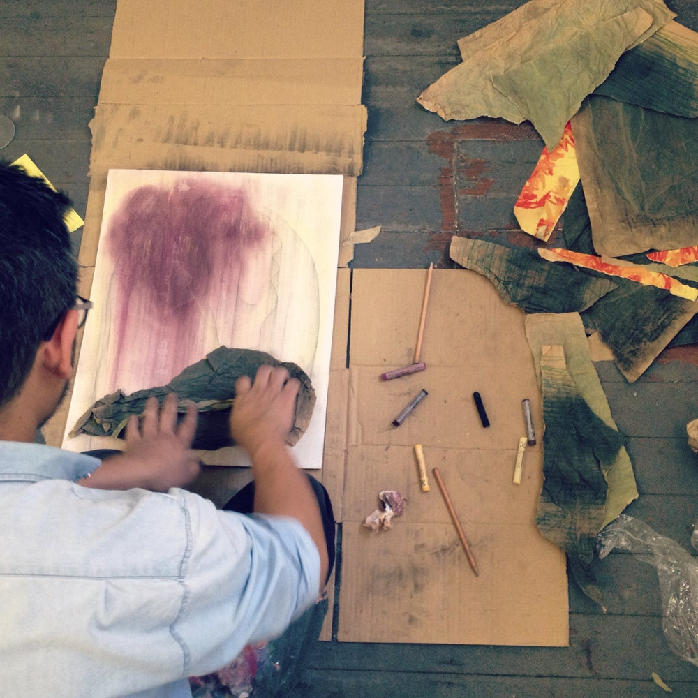 Image of Drawing and mark making with Michele Morcos Wednesday night Feb 17th and 24th 7-9 pm