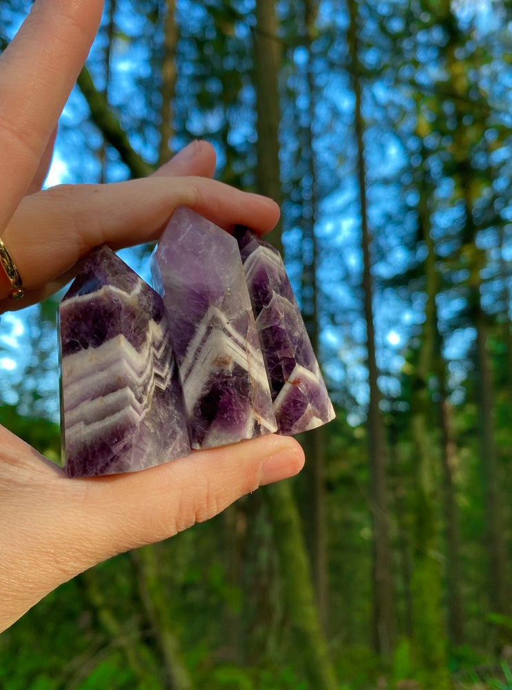 Image of chevron amethyst towers